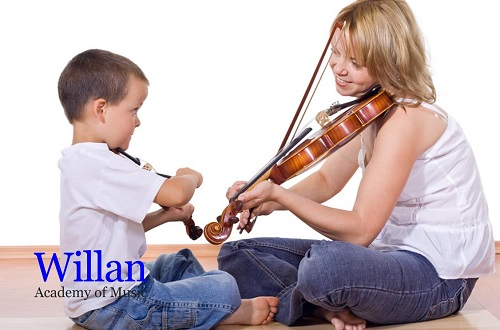 Let your kid enjoy practicing violin