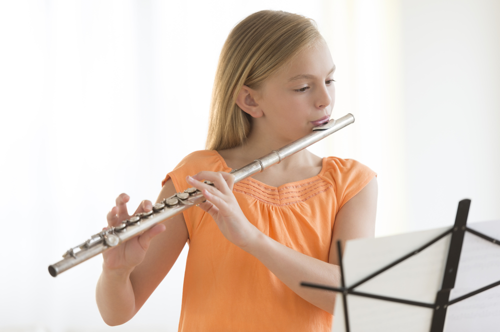 Flute, in home music lessons
