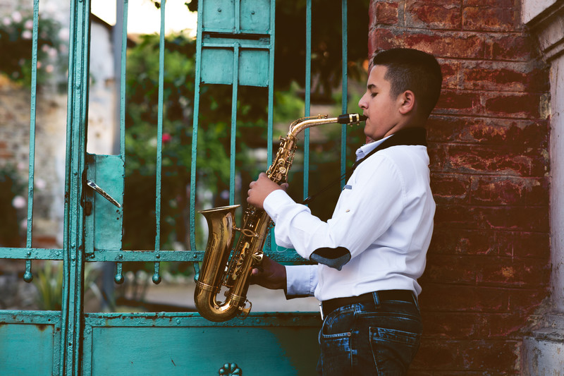 Saxophone, in home music lessons